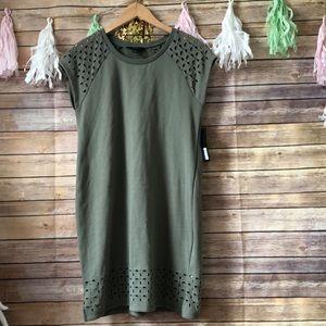 GNW short sleeve t-shirt dress with cutout details